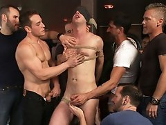 Muscle stud uses and abuses his boy in front of a horny lunch crowd